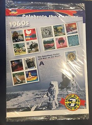 Scott's Destash- #3188a-o 33 Cent  Celebrate the Century 1960s Pane of 15 WA MNH