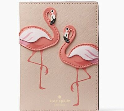 $98 Kate Spade by the pool Flamingo passport cover S1