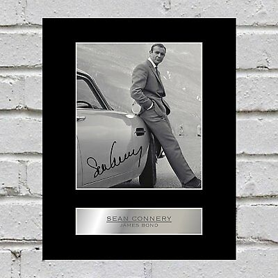 Sean Connery Signed Photo Display James Bond 007