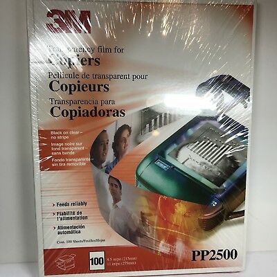 3M Transparency Film PP2500 Copiers New (K)