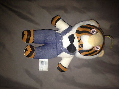 vintage small EXXON ADVERTISING TIGER PLUSH STUFFED ANIMAL GAS OIL COMPANY DOLL