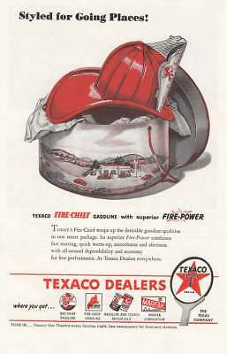 1945 Texaco: Styled for Going Places Vintage Print Ad