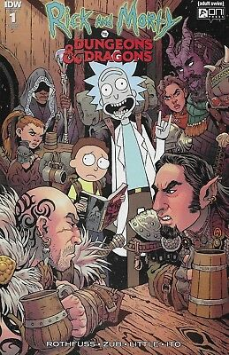 Rick and Morty vs Dungeons & Dragons #1 Variant Cover Tess Fowler 1:25 D&D