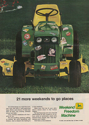 1969 John Deere: 21 More Weekends To Go Places Vintage Print Ad