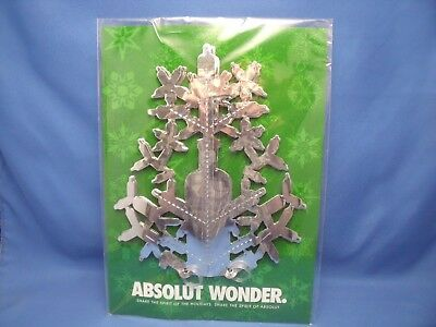 Absolut Wonder Share The Spirit Snowflake 2003 New Sealed Mylar Silver Star