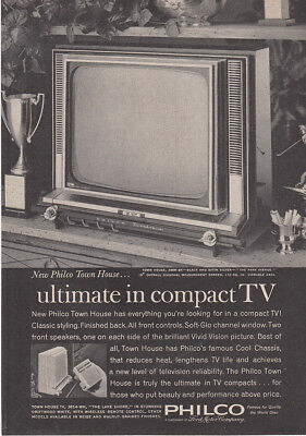1963 Philco: Ultimate In Compact TV Vintage Print Ad