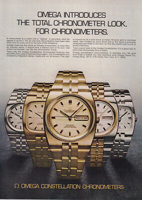 1973 Omega Watches: Total Chronometer Look Vintage Print Ad