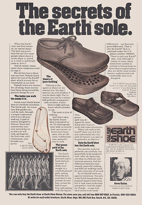 1976 Kalso Earth Shoes: Secrets of the Earth Sole Vintage Print Ad