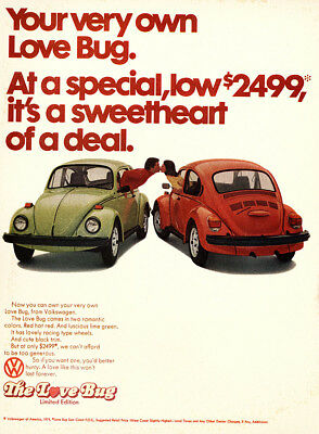 1974 Volkswagen: Your Very Own Love Bug Vintage Print Ad
