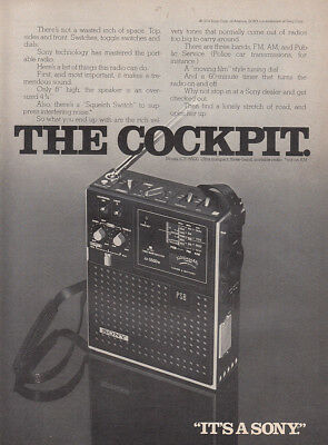 1974 Sony Radio: The Cockpit Vintage Print Ad