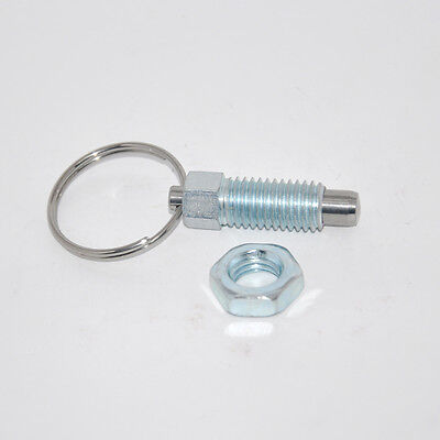 M12 index plunger with ring pull spring loaded retractable locking pin #Z886 ZY