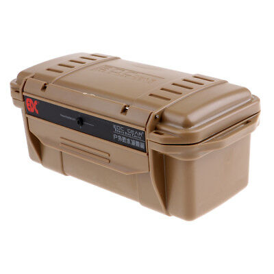 Camping Waterproof Shockproof Storage Dry Box Airtight Container Case Brown