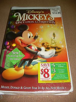 mickeys once upon a christmas vhs 1999 disney clamshell sealed - Mickeys Once Upon A Christmas Vhs