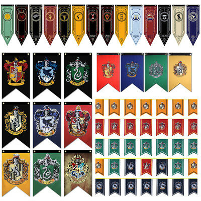 Game of Thrones/Harry Potter House School Banner Flag Wall Hanging Home Decor