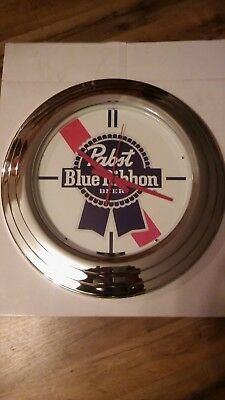 "Brand New Pabst Blue Ribbon Illuminated Clock, 18"" in Dia."