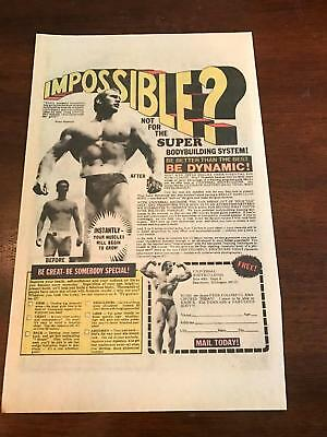 1975 VINTAGE 6.5x10 COMIC PRINT AD FOR UNIVERSAL BODYBUILDING WITH BRIAN EASTMAN