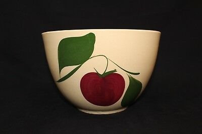 Excellent WATT APPLE 2-LEAF #65 MIXING BOWL YELLOWWARE 9""