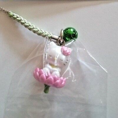 Sanrio Hello Kitty lotus Charm Mascot Cell Phone Strap Japan New