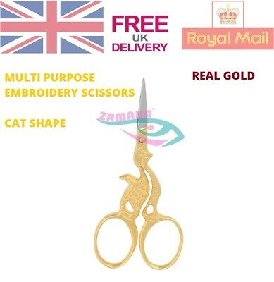 Cat Sewing Embroidery Scissors Trimming Dressmaking Shears Cross-Stitch Steel CE