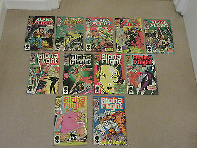 ALPHA FLIGHT, MARVEL COMICS X 11-No 's 13-23 consecutive-1984-Job Lot-X -MEN