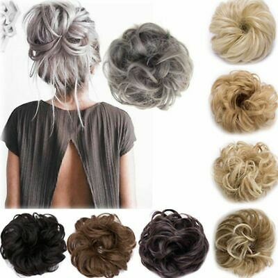 Curly Messy Bun Hair Piece Scrunchie Ponytail Hair Extensions Human Hairpiece