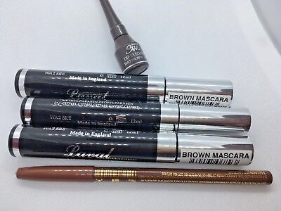 LAVAL ULTRA LASH  3 X Brown MASCARA + LIQUID LINER  +EYE  PENCIL ALL FULL SIZE