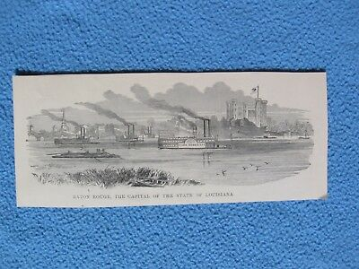 1898 Civil War Print - Baton Rouge, The Capital of the state of Louisiana