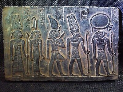 EGYPTIAN ARTIFACT ANTIQUITIES Amon Ra Goddess Stela Relief Plaque 1278-1242 BC