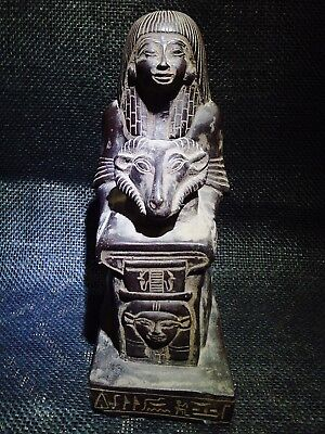 EGYPTIAN ARTIFACT ANTIQUITIES Horemheb Hold Ram's Head Sculpture 1360–1340 BC