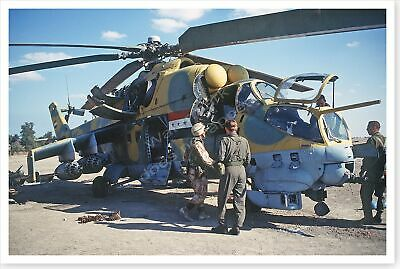 82nd Airborne Inspects Abandoned Iraqi Helicopter Persian Gulf War 8 x 12 Photo