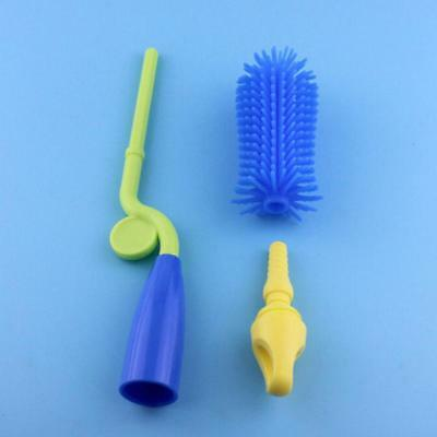 Practical Bottle Brush Scrubbing Silicone Kitchen Cleaning Brush  Safe Y