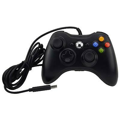 New Black Wired Controller For Microsoft Xbox 360 Pc Windows