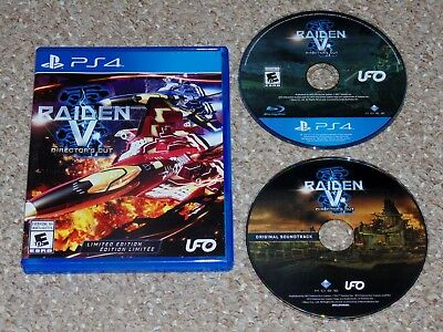 Raiden V: Director's Cut Limited Edition Sony PlayStation 4 PS4 with Soundtrack