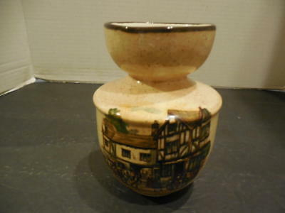 Pottery Vase with Scenes  Old Coach House York, Old Coach House Bristol ID:27023