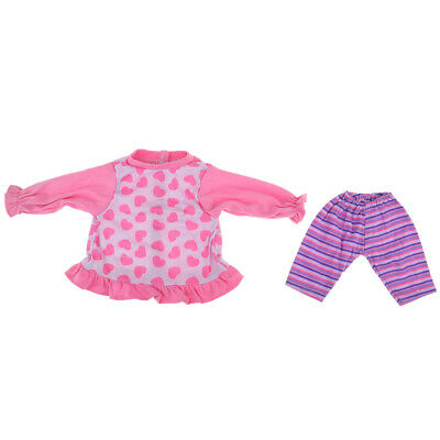 "Lovely Shirt Shorts Pajamas Set For 18"" American Our Generation My Life Doll"