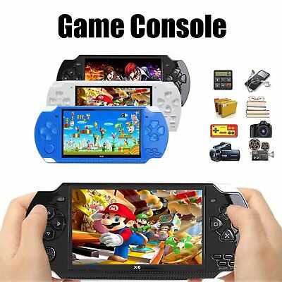 "2019 Classic 4.3"" X6 Handheld Video Game Console 8GB 32 Bit Built-in 1000 Games"