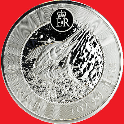 2018 1oz Silver Cayman Islands Marlin 1 Ounce Silver Bullion Coin