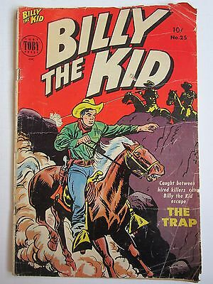 BILLY THE KID #25 Oct-Nov 1954 Toby Press Wester Comic Golden Age 3.0 GD/VG