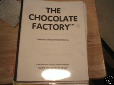 Chocolate Factory Ice  Redemption Game Manual