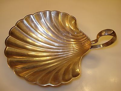 Meriden Britannia Sterling Silver Handled Shell Dish Footed Bowl Ashtray 115 Gr