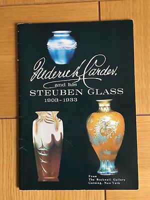 Frederick Carder and His Steuben ART Glass Rockwell Gallery Exhibit 1968 VASE
