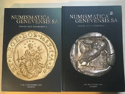Two Numismatica Genevensis World Coin Auction Catalogs 2006-08 Rare!