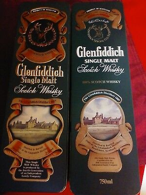 Glenfiddich Single Malt Scotch Whisky Tin Lot Of 2 Produced In Uk