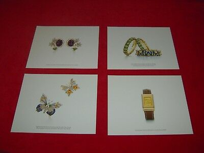 Set of 4 Tiffany & Co. 2006 Advertising Photos of Jean Schlumberger Designs