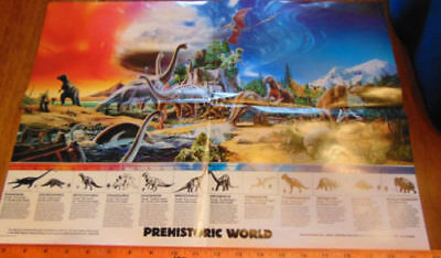 Invicta Plastics Carnegie Dinosaur Poster from their play set collection MINT