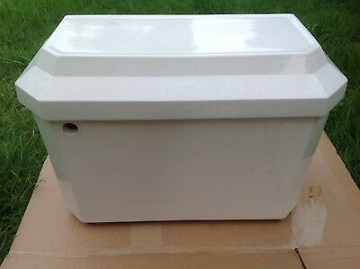 Edwardian White Low Level Toilet Cistern. Vintage Shabby Victorian