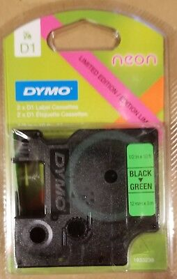 Dymo D1 Label Cassettes - 2-Pack - Neon Pink & Neon Green - Free Shipping!!