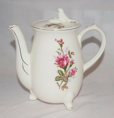 "VTG Porcelain Electric Miniature Teapot Japan Body Only ~7"" Tall"