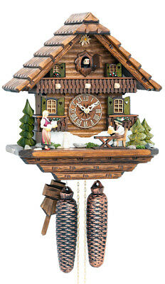 Hekas 875.. 8 Day Cuckoo Clock.. New!! (German/black Forest) Animated Movement!!