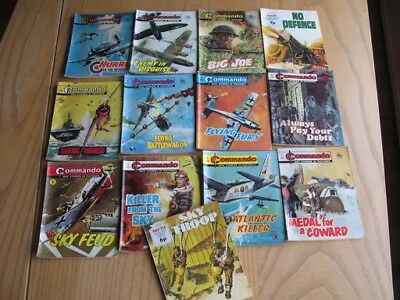 Lot of 1970 vintage Commando, War Picture Library, Battle Picture Library comics